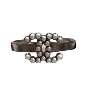 Chanel Bracelet Cuff Adjustable CC Logo RH